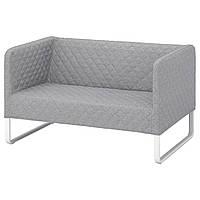 """IKEA """"КНОППАРП"""" диван двухместный светло-серый, фото 1"""