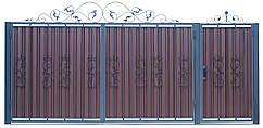 Кованые ворота и калитка  В-03