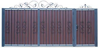 Кованые ворота и калитка  В-03, фото 2