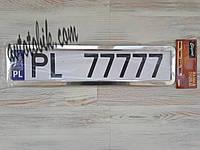 Рамка номерного знака Elegant 100 599 нержавейка