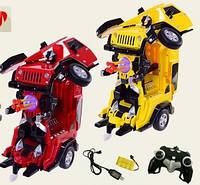 Машина-трансформер на радиоуправлении, на аккумуляторах, робот-машина, стреляет присоска, в коробке , фото 1
