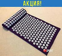 Аплікатор килимок + подушка (валик) Кузнєцова масажний для спини/ніг масажер набір VMSport