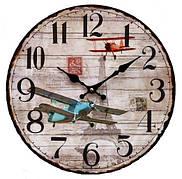 Часы настенные, Самолеты, круглые, 34 см, МДФ