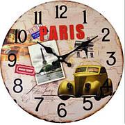 Часы настенные Paris, круглые, 34 см, МДФ