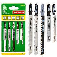 Пилки для лобзика KROHN T-SET5 (5 шт)