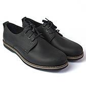 Полуботинки кожаные черные черные мужская обувь Rosso Avangard Winterprince Polyderby