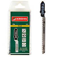 Пилки по дереву для лобзика KROHN T101AO (25 шт)