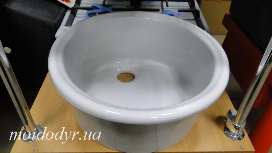 Мойка кухонная керамическая 445 мм врезная (умывальник)