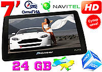 Новый GPS навигатор Pioneer 7HD 24GB! 800 MHZ. FM, Navitel, IGO, Ситигид