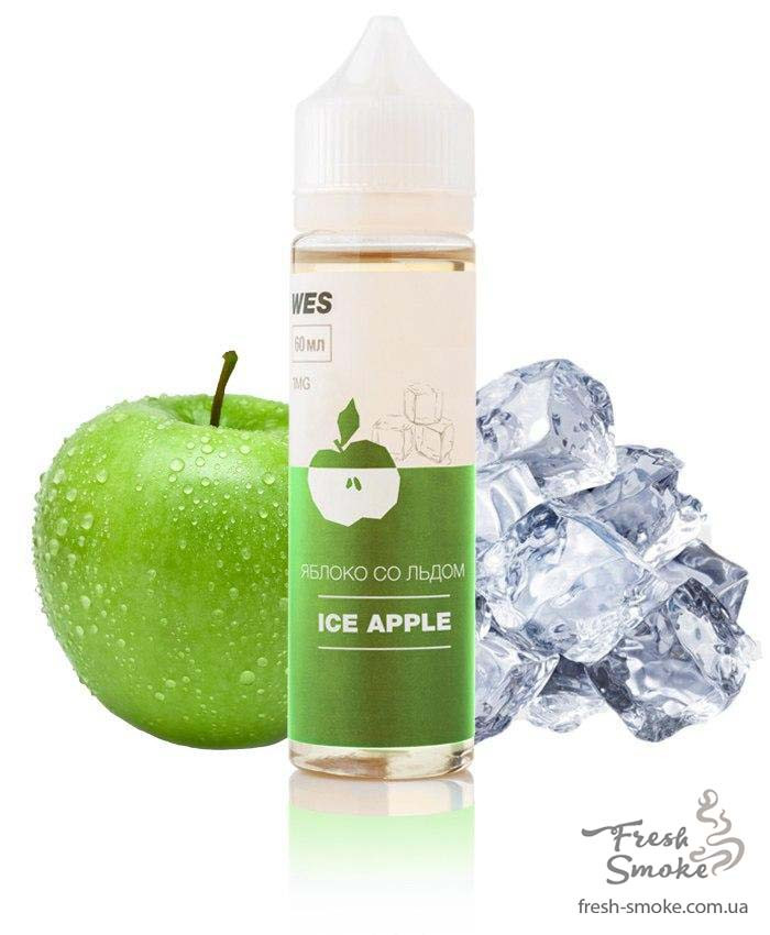 """Жидкость (заправка) для электронных сигарет/вейпа WES The First """"Ice Apple"""" 60 мл (Яблоко со льдом)"""