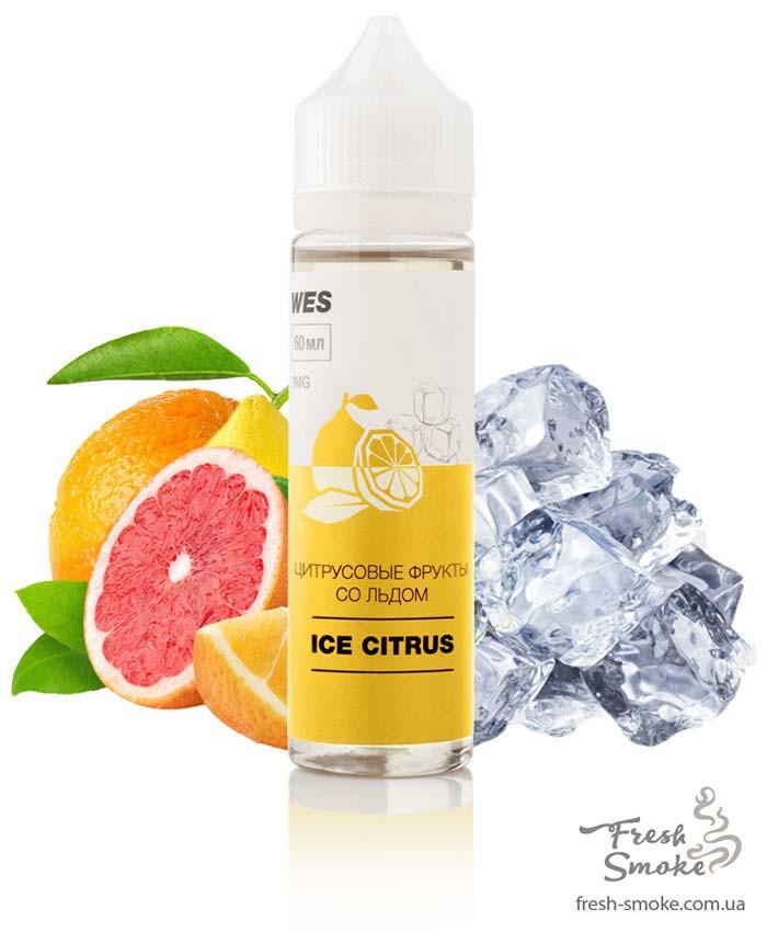"""Жидкость для вейпа WES The First """"Ice Citrus"""" 60 мл (Цитрусовые фрукты со льдом)"""