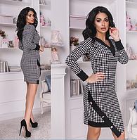 Короткое облегающее женское платье с асимметричным подолом.  Размеры:  42,44