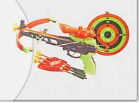 Арбалет детский звуковой, свет, на батарейках со стрелами и мишенью, колчан для стрел, фото 1