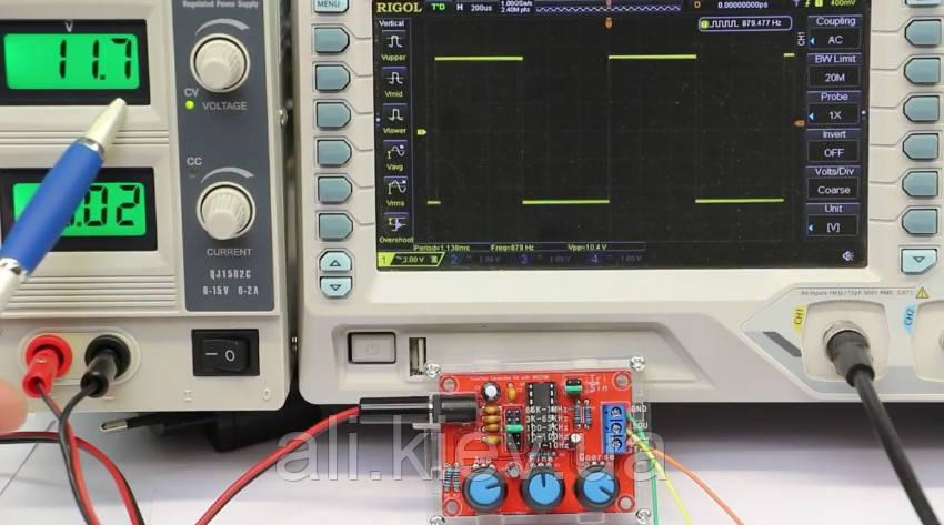 DIY генератор сигнала синус треугольник меандр 1Гц - 1МГц XR2206 набор сделай сам