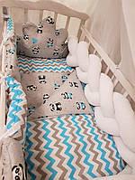 Детское постельное белье для новорожденных в кроватку Bonna Сладкие сны, Облачко с глазками, косичка
