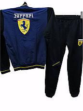 Подростковый спортивный костюм для мальчиков трикотажный Ferrari комбинированный, фото 2