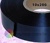 Сатин черный (10х200) для печати бирок и этикеток