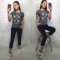 """Модная футболка GUCCI """"Кошка"""", размеры S M L XL Турция, фото 2"""