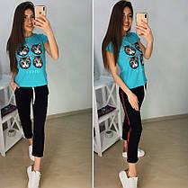 """Модная футболка GUCCI """"Кошка"""", размеры S M L XL Турция, фото 3"""
