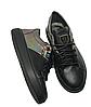 Женские черные кожаные кроссовки 41 размер 26.5 см, фото 5