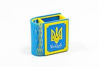Подставка для канцтоваров Книга Украина, голубая