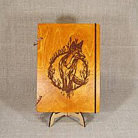 Скетчбук A6. Блокнот с деревянной обложкой., фото 1