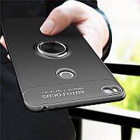 Чехол TPU Ring для Xiaomi Mi Max 2 бампер оригинальный Black с кольцом