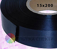 Сатин черный (15х200) для печати бирок и этикеток
