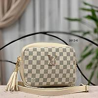 abb1e8e28e3d Женская сумка-клатч Louis Vuitton бежевый, черный, коричневый Код3913-1
