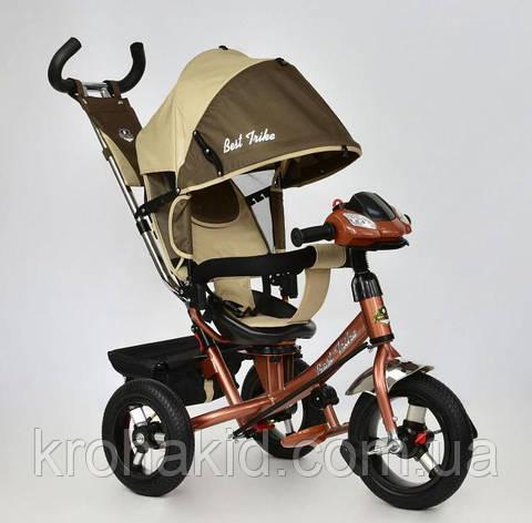 Велосипед 3-х колесный 7700 В - 6450 Best Trike ШОКОЛАДНО-БЕЖЕВЫЙ,  ПОВОРОТНОЕ СИДЕНЬЕ, НАДУВНЫЕ КОЛ, фото 2