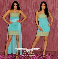 Вечернее платье со съемной шифоновой юбкой