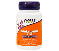 Мелатонин Now Foods Melatonin 5 mg, 60 caps