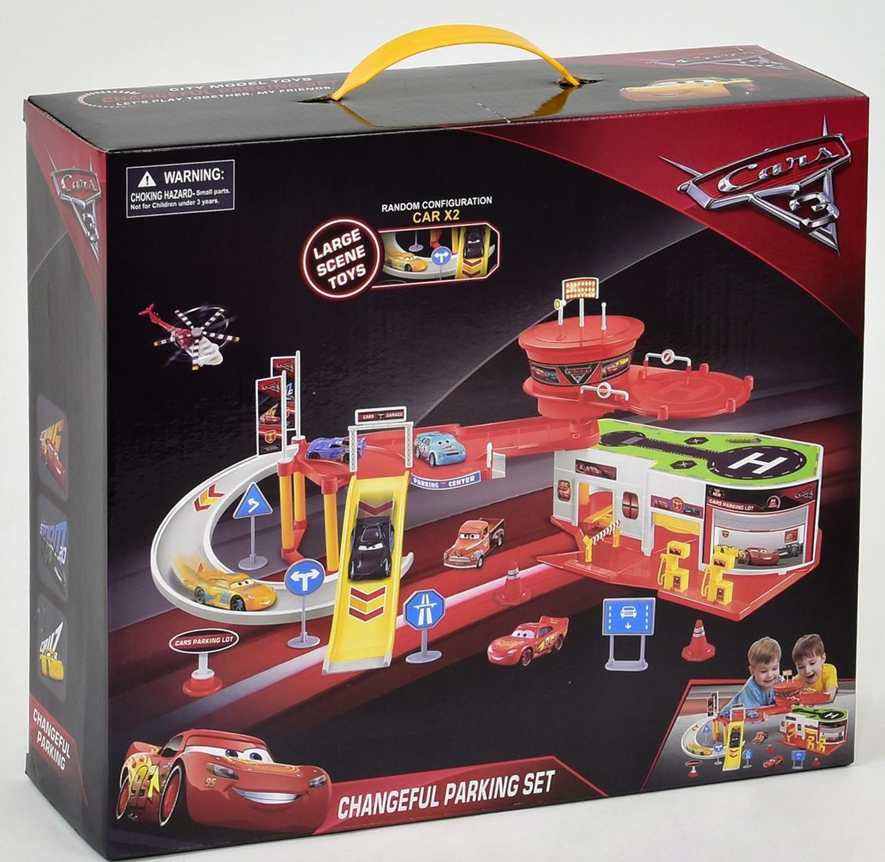 Гараж заправка с вертолетной площадкой Тачки c машинками (Cars)