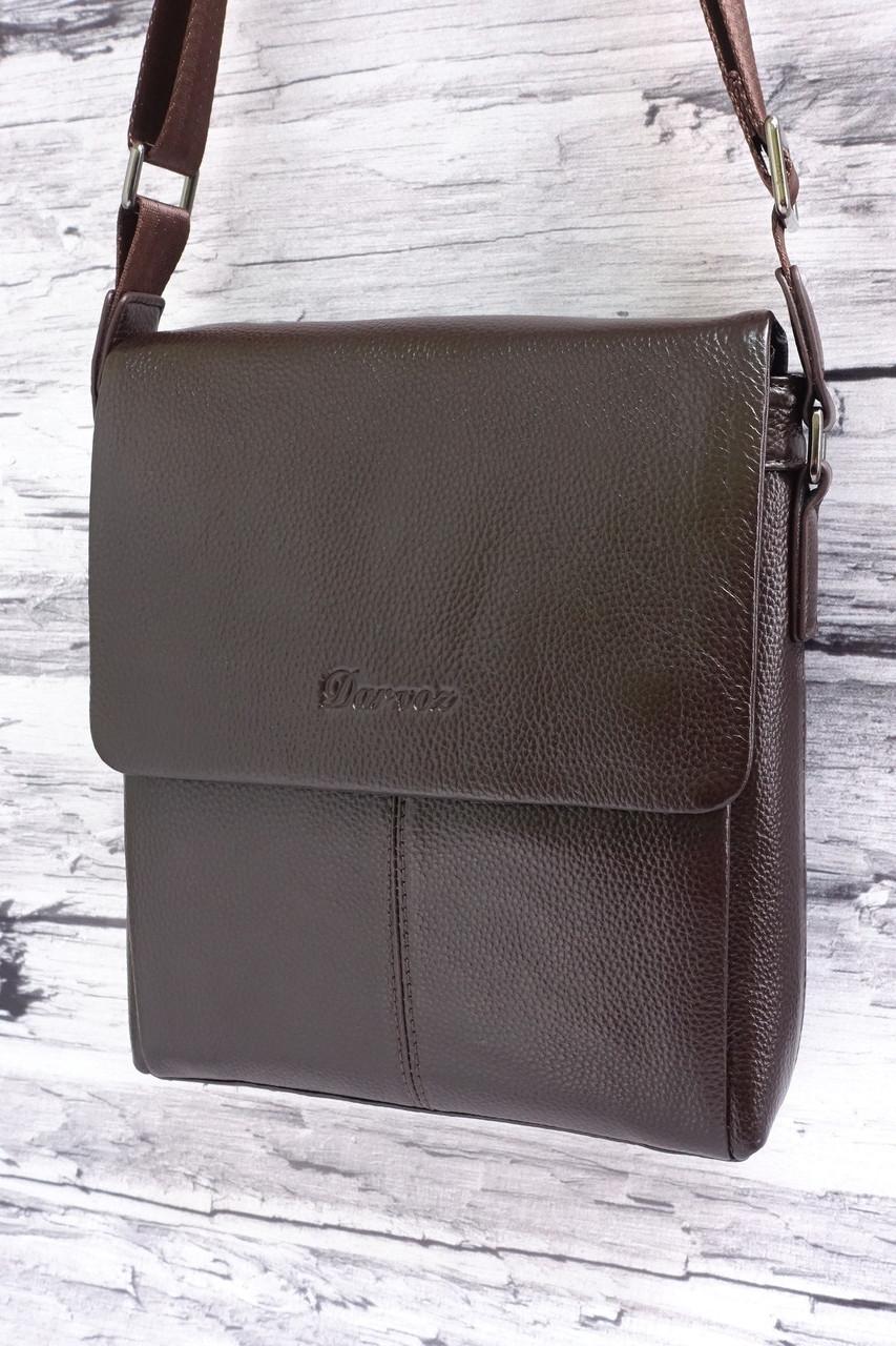 Мужская сумка из натуральной кожи Darvoz 9068-3 brown