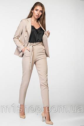 Женский деловой брючный костюм с двубортным пиджаком (3002 ie/ist), фото 2