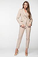 Женский деловой брючный костюм с двубортным пиджаком (3002 ie/ist)