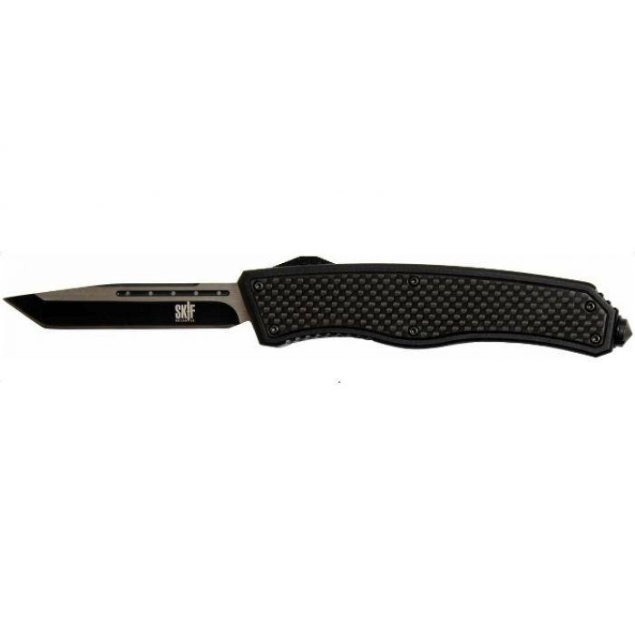 Нож складной SKIF 265A tanto blade 440С ( Carbon fiber ) чёрный