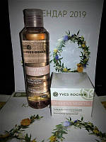 Набор мицеллярная вода и увлажняющий крем sensitive vegetal yves rocher (ив роше)