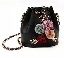 Женская сумка Kaila через плечо мини с цветами Flowers