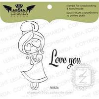 Набор штампов Love you!, 2 шт, N082a