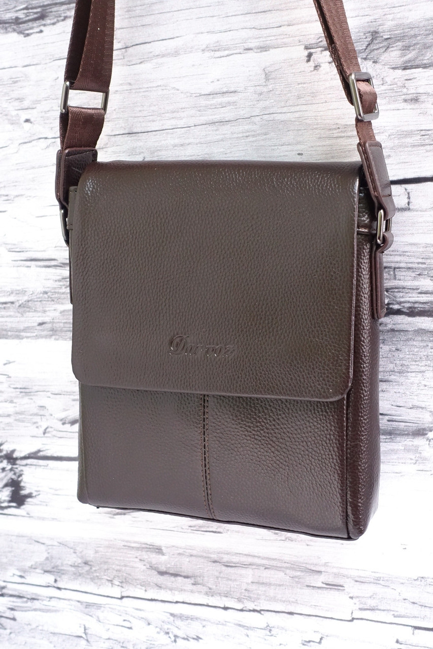 Мужская сумка из натуральной кожи Darvoz 9068-2 brown