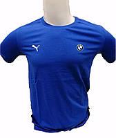 Футболка брендовая мужская в стиле BMW турецкого производства Синяя