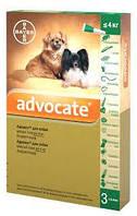 Advocate (Адвокат) капли для собак весом до 4кг за пипетку