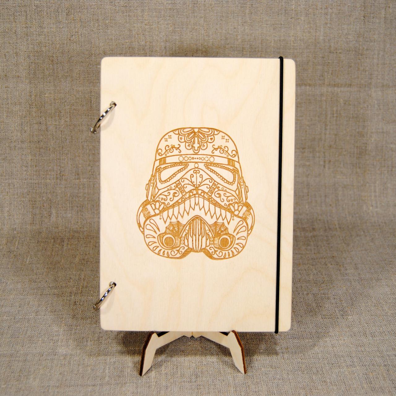 Блокнот. Скетчбук. Блокнот с деревянной обложкой А6. Блокнот в деревянном переплете. Деревянный блокнот