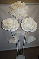 Декор Куст Гигантских Белых Роз и Белого Пиона  Продажа
