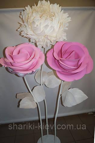Декор Куст Гигантских Розовых Роз и Белого Пиона  Продажа, фото 2