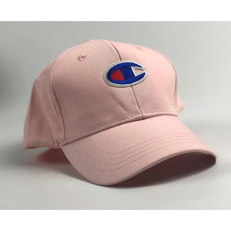 Бейсболка Champion розовая большое лого