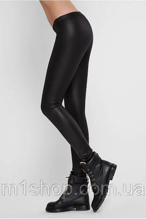 Женские черные лосины с низкой талией (Matt ordinary art), фото 2