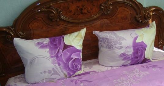 Наволочка ранфорс 70х70 - Сиреневые розы
