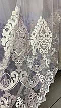 Турецкая фатиновая тюль с шикарной вышивкой 2669, фото 3